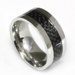Ringe mit Carbon+ black  Inlay