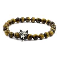 Lavastein & Perlen Armband