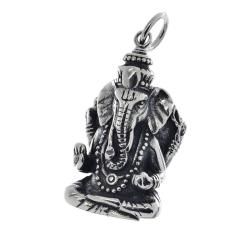 Edelstahlanhänger - Ganesha