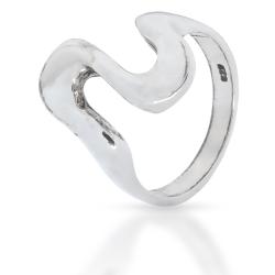 925 Sterling Silberring - Geschwungen