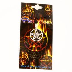 Zinnanhänger  Pentagramm