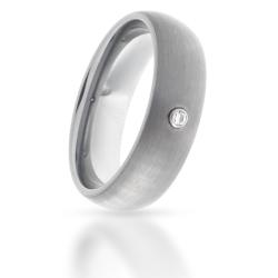 Wolfram-Ring mattiert mit Stein
