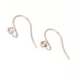 Edelstahlohrhaken für K Beads aus Stahl