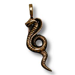 Bronzeanhänger Schlange