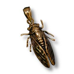 Bronzeanhänger - Fliege, Insekt