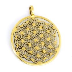 Bronzeanhänger Blume des Lebens