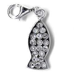 925er Sterling Silber Anhänger- kleiner Fisch