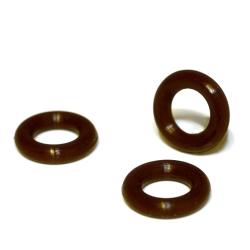 Stopper Vinyl braun für 6 mm Band VPE: 2 Stück