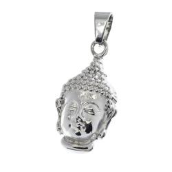 Edelstahlanhänger- Buddhakopf