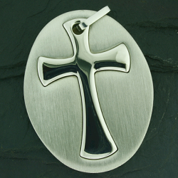 Edelstahlanhänger - Kreuz
