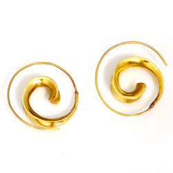 Bronzeohrringe Spirale