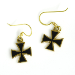 Bronze Ohrringe Eisernes Kreuz