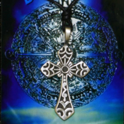 Zinnanhänger - Kreuz