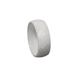 Keramikring - weiß/Facettenring