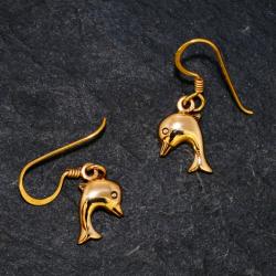 Bronze Ohrringe - Delfin