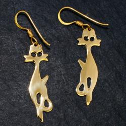 Bronze Ohrringe - Katze