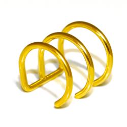 Edelstahlohrklemme mit PVD-Beschichtung - gold