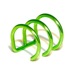 Edelstahlohrklemme mit PVD-Beschichtung - grün