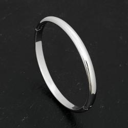 Edelstahlarmreif poliert, rund, 6 mm