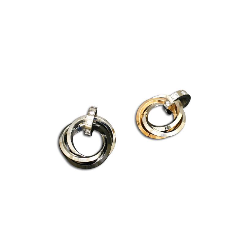 partneranh nger aus edelstahl 3 ringe verschlungen k. Black Bedroom Furniture Sets. Home Design Ideas