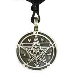 Zinnanhänger - Pentagramm