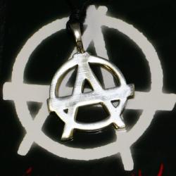 Zinnanhänger - Anarchiesymbol