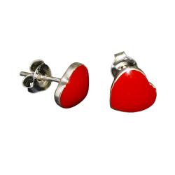Ohrhänger 925er Sterling Silber-  rote Herzen