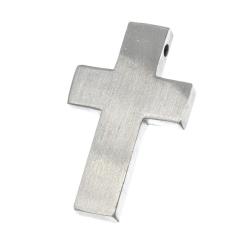 "Edelstahlanhänger - Kreuz mattiert ""Limos"""