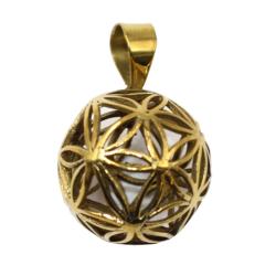 Bronzeanhänger Blume des Lebens als Kugel