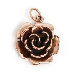Bronzeanhänger Blume