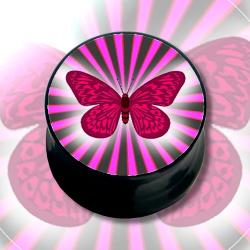 Tunnel Picture-Plug 6-16mm Schmetterling