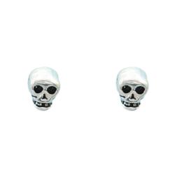Silberohrstecker - Totenkopf