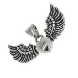 Edelstahlanhänger - Fliegendes Herz