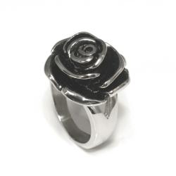 Edelstahlring Rose