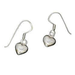 Silberohrringe - hängende Herzen