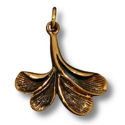 Bronzeanhänger Blatt