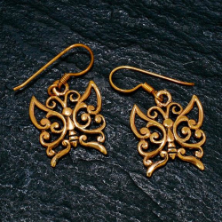 Bronze Ohrringe - Schmetterlinge