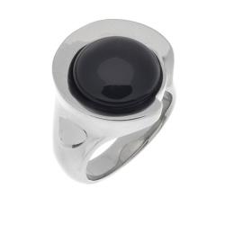 Edelstahlring/Schwarzglas