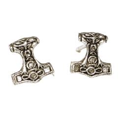 925 Sterling Silver Stud Earrings - Thors Hammer