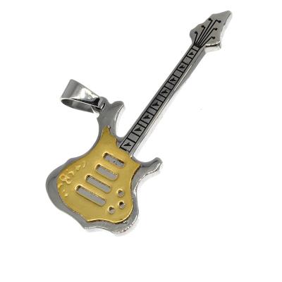 Edelstahlanhänger Gitarre  mit PVD-Beschichtung