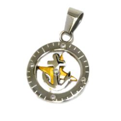 Edelstahlanhänger - Anker + Kompass...