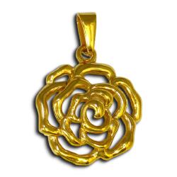 Edelstahlanhänger - Blume