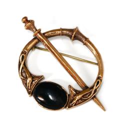 Mittelalterliche Bronze Fibel