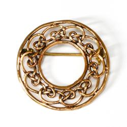 Bronze Brosche - Keltischer Knoten