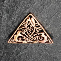 Bronze Brosche - Dreieck mit Muster