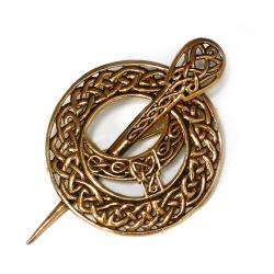 Mittelalterliche Bronze - Fibel