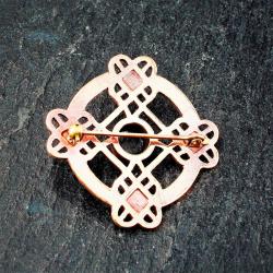 Bronze Brosche - Keltisches Muster