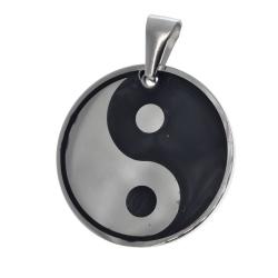Edelstahlanhänger - Yin und Yang