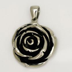 Edelstahlanhänger - Rose