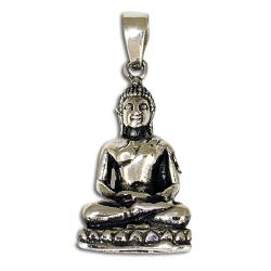 Edelstahlanhänger - Sitzender Buddha